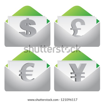 Stock exchange concept illustration design over a white background - stock photo