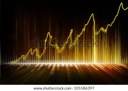 stock exchange graph - stock photo