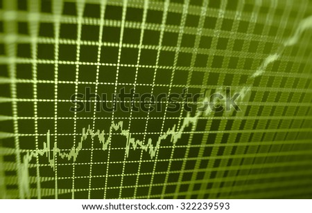 Stock exchange graph screen business display success  goal forex figures data sell nasdaq rate economics exchange digital electronic risk board city wall concept earnings information index currency  - stock photo