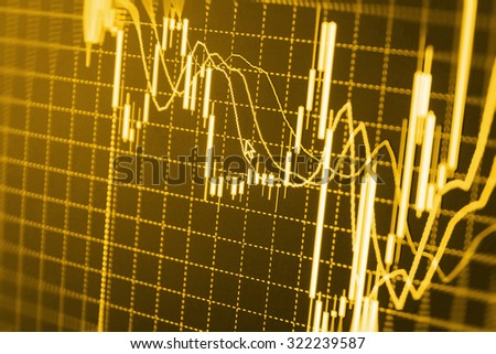 Stock exchange graph screen research analysis illustration computer forecast monitor buy success global commerce bank banking business share economy investor accounting bar stock trading sell  - stock photo