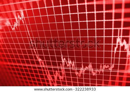 Stock exchange graph screen success economics graph growth display trading nasdaq loss analysis exchange economic interest board computer goal investor profit economy price capital risk information  - stock photo