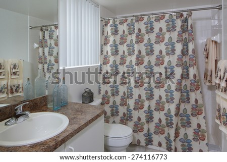 Stock image of a bathroom with decor - stock photo