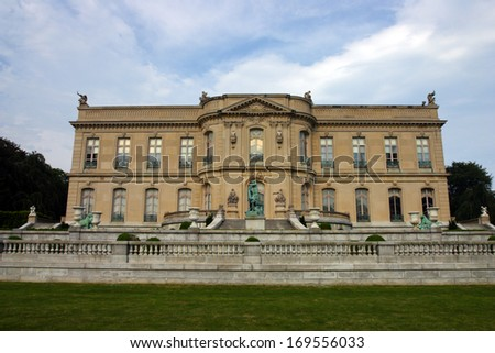 Stock image of Elms Mansion in Newport, Rhode Island  - stock photo