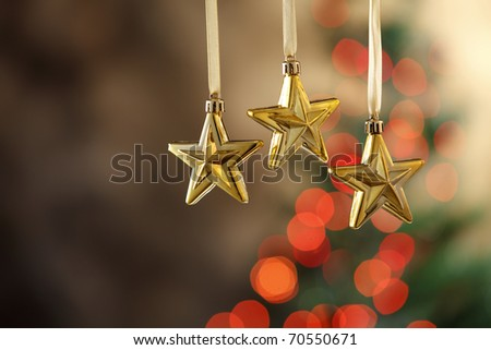 stock image of the christmas decoration star - stock photo