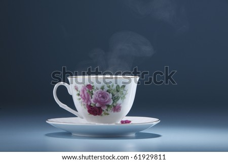 stock image of the cup with steam - stock photo