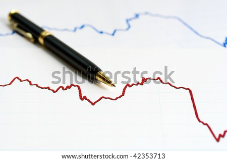 Stock index dynamics. - stock photo