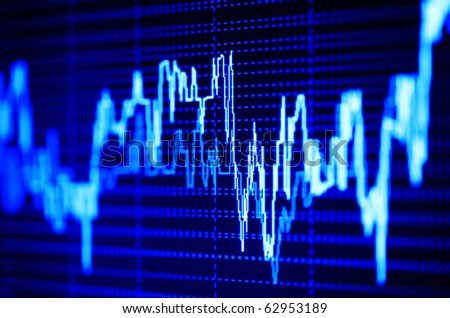 Stock index on the computer monitor. - stock photo