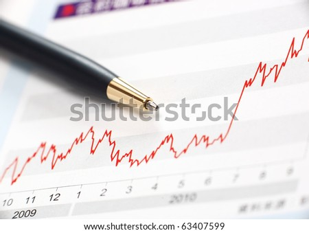 Stock index raise - stock photo