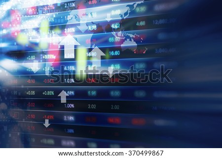 Stock market background design - stock photo