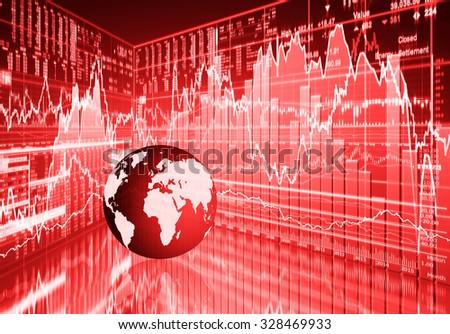 stock market concept , stock market crash - stock photo