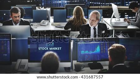 Stock Market Economy Investment Financial Concept - stock photo