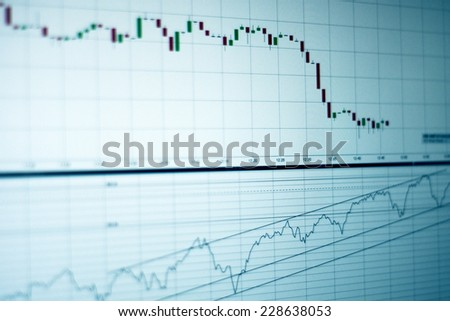 Stock market going up or down? - stock photo