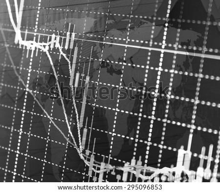 Stock Market Graph and Bar Chart - stock photo
