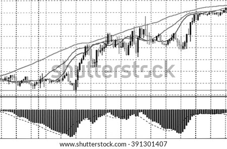 Stock Market Graph and Bar Chart - stock photo