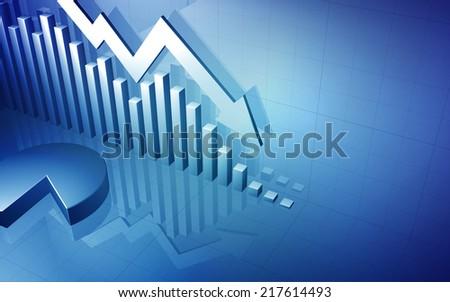 Stock Market Graph Arrow - stock photo