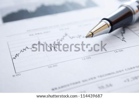 Stock market graphs - stock photo
