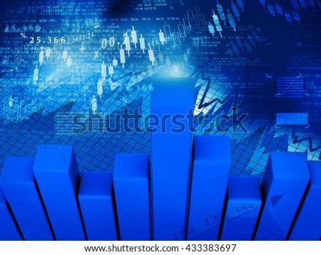 Stock market graphs, business graphs background. stock market anylis - stock photo