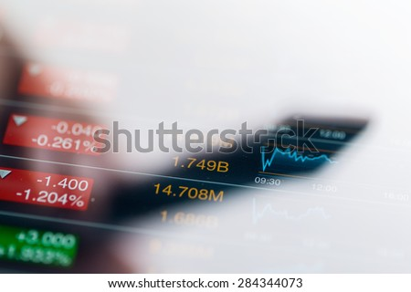 Stock market on screen - stock photo