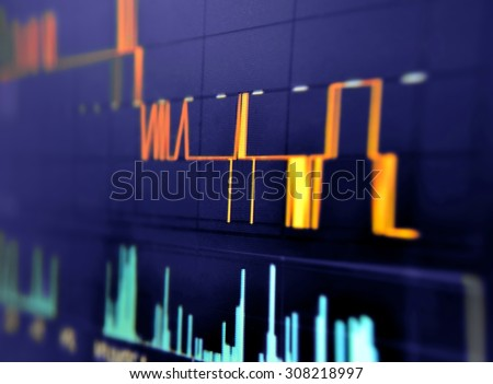 Stock market price movement - stock photo