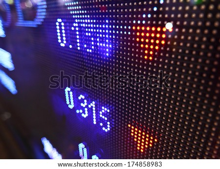 Stock market quotes - stock photo