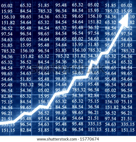 stock numbers on a dark blue background - stock photo