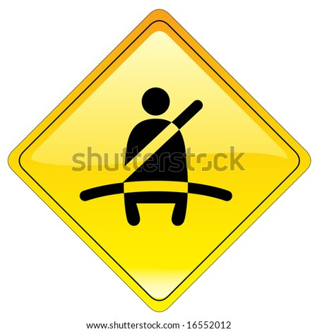 stock photo : Mandatory buckle up sign - stock photo