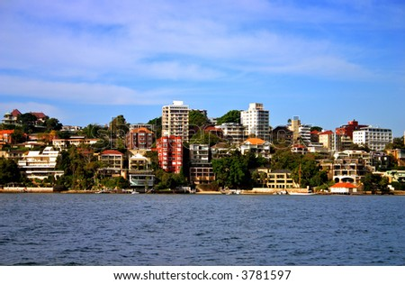 Stock photo of a seaside residential at Rose Bay, Sydney - stock photo