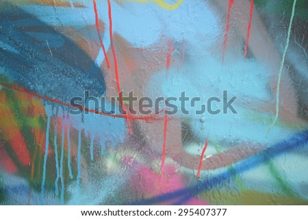 Stock photo of abstract graffiti colors - stock photo