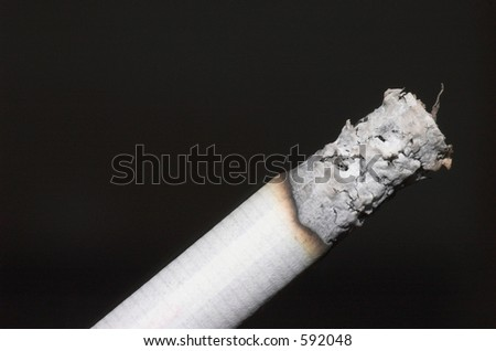 Stock photo of lit cigarette isolated - stock photo