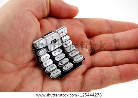 stock photography of the keypad found on phones - stock photo