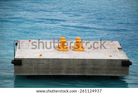 stock picture of ship ropes and structures to mooring the ship on the dock - stock photo