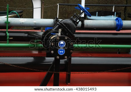 stock pictures of industrial pipes for energy  - stock photo