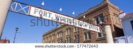 Stock Yards, Fort Worth, Texas - stock photo