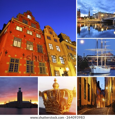 Stockholm city - stock photo