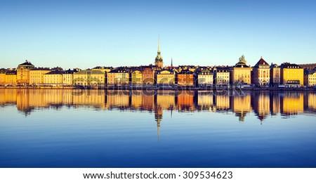 Stockholm city - stock photo