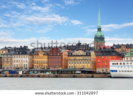 Stockholm Old Town, Sweiden - stock photo