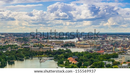 Stockholm Skyline - stock photo