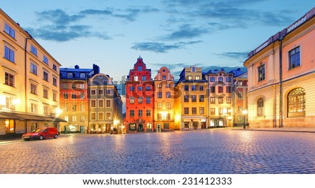 Stockholm - Stortorget place in Gamla stan - stock photo