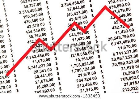 stocks background - stock photo