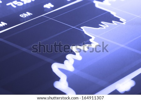 Stocks - finance background - stock photo