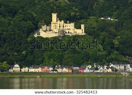 Stolzenfels Castle near Koblenz. Rhine Valley is UNESCO World Heritage Site, Germany - stock photo