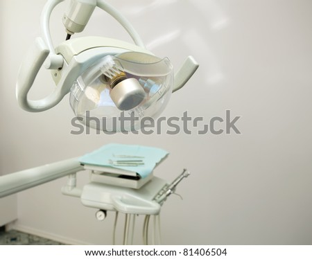 Stomatological instrument in the dentists clinic. - stock photo