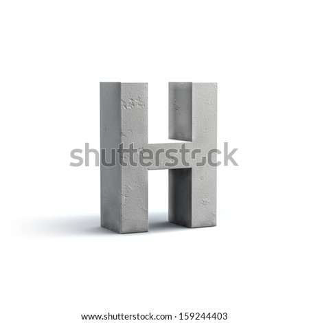 Stone Alphabet Design isolated on white background - stock photo