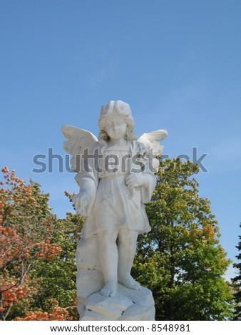stone angel - stock photo
