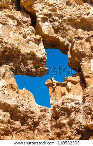 Stone background in Charyn Canyon near the Almaty city in Kazakhstan - stock photo