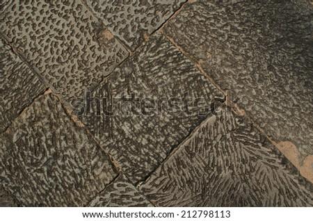 stone brick at Bapoun - stock photo