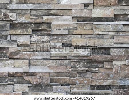 Stone brick texture background - stock photo