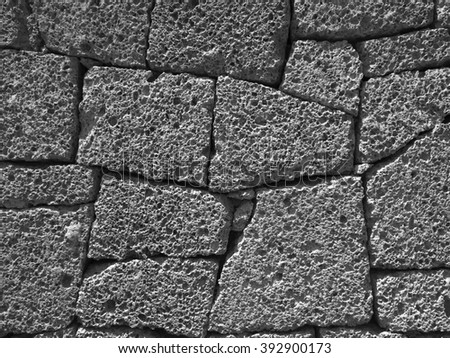 stone bricks - textured background - stock photo
