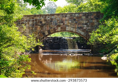 Stone Bridge at Petit Jean State Park - stock photo