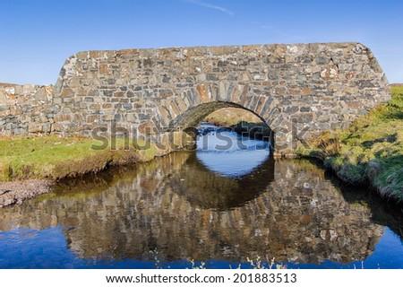 Stone bridge - Isle of Mull - Inner Hebrides of Scotland - stock photo